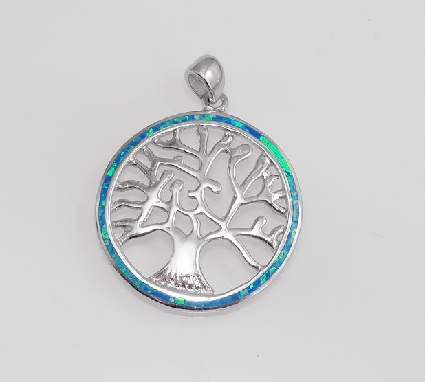 Stříbrný přívěsek Strom života s Opálem.. AGPRIV750168