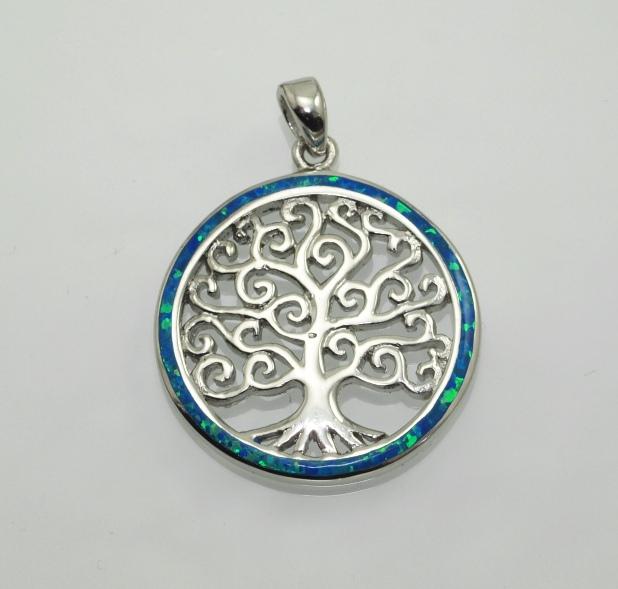 Stříbrný přívěsek Strom života s Opálem.. AGPRIV750168_