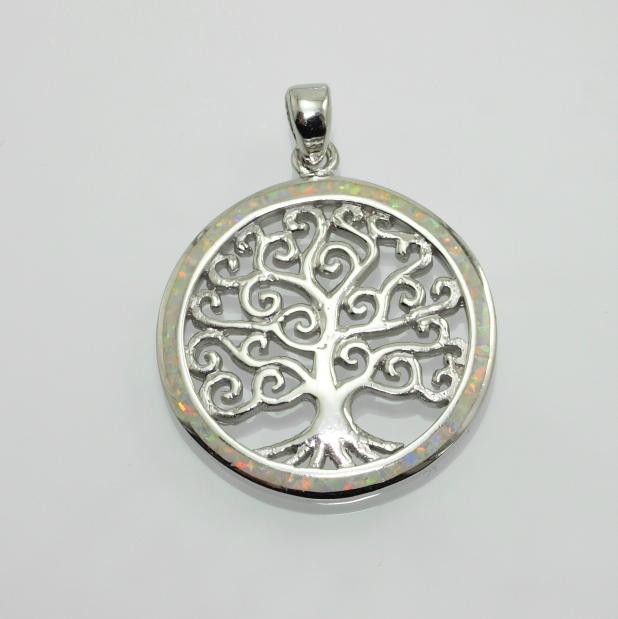 Stříbrný přívěsek Strom života s modrým Opálem.. 750201_2
