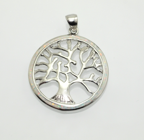 Stříbrný přívěsek Strom života s Opálem.. AGPRIV750169