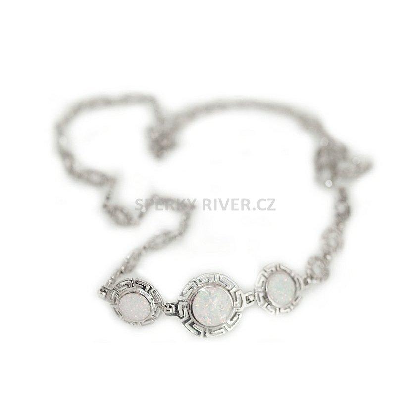 839d100f6 Stříbrný náhrdelník Fattime bílý | Velký výběr stříbrných šperků pro ...