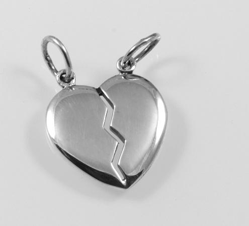 PiayaPorn Silverasia co.ltd.Stříbrný přívěsek.AGPRIV780003.Stříbrný přívěsek pro zamilované.Rozlamovací přívěsek.jeden šperk pro dva.